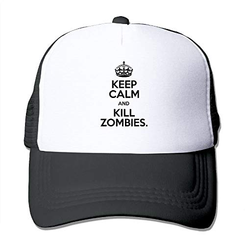 Preisvergleich Produktbild Keep Calm and Kill Zombies Mesh Trucker Caps / Hats Adjustable for Unisex Black