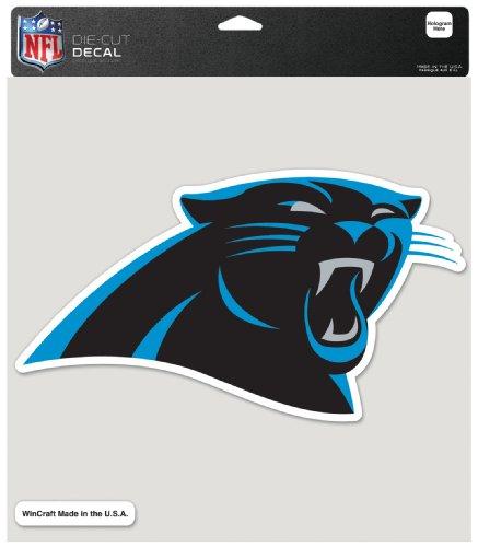 Wincraft NFL Carolina Panther 8-by-8-Zoll gestanzten Aufkleber farbig