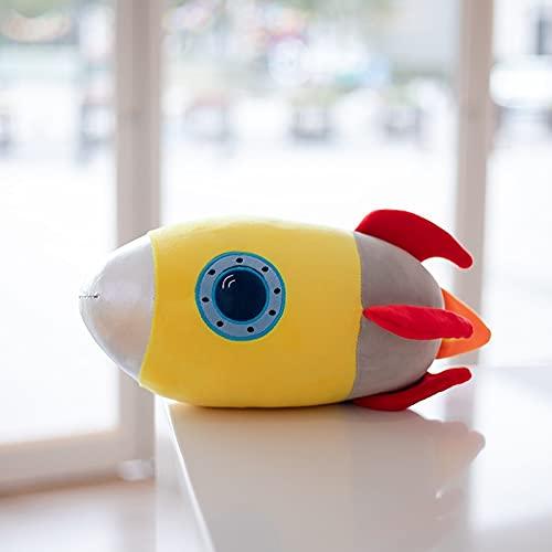 Peluches 40cm Creativo Relleno Algodón Cohete Juguetes De Peluche Divertido Cohete Espacial Almohada De Felpa para Cojín De Sofá Regalos Bonitos