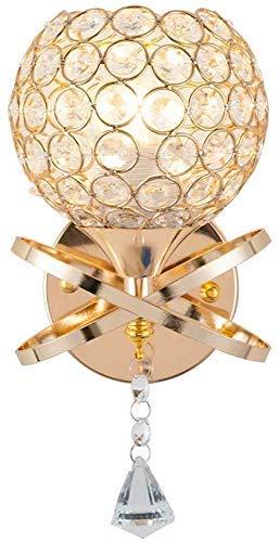YANQING Duurzame Crystal Ball Applique Complex Procedures Decoratie Stijl Unieke Wandlamp Elegant Ontwerp Modern Nordic Sconce (Kleur: 1 Licht, Maat : 14x25cm), Grootte: 14x25cm, Kleur: 1 Licht