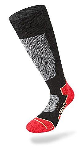 LENZ 5.0 Socken 2018 black/grey/red, 35-38