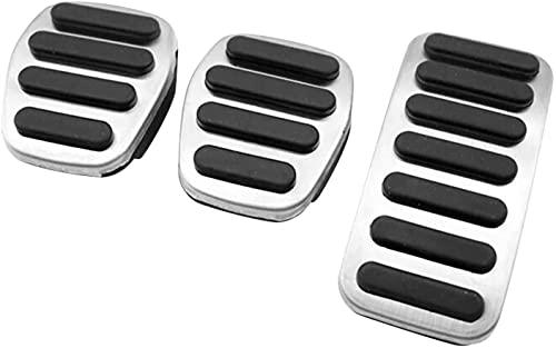 QHYX-bee Pedale dell'acceleratore per Auto, Pedale del Freno, per Volvo S40 V40 C30 XC30 Acciaio Inox Antiscivolo copripedali poggiapiedi Car Interni Accessori