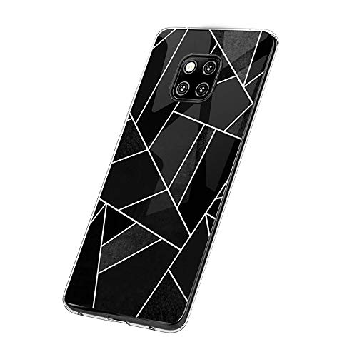 Croazhi Compatible with Hülle Huawei Mate 20 Pro Hülle Handyhülle para Huawei Mate 20/ Mate 20 Pro Silikon Crystal Tasche Cover TPU Schutzhülle Clear Transparent Backcover (4, Huawei Mate 20 Pro)