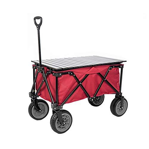 Einkaufstrolleys Outdoor-Camping Kleine Wagen Picnic Fischen-faltender Beweglicher Wagon Grocery Einkaufswagen Trolley Trailer Load 150kg Einkaufskörbe & -taschen ( Color : Red D , Size : 88*50*35cm )