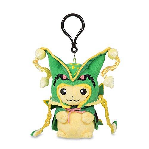 POK Plush Keychain Pikachu with MEGA Rayquaza Cape