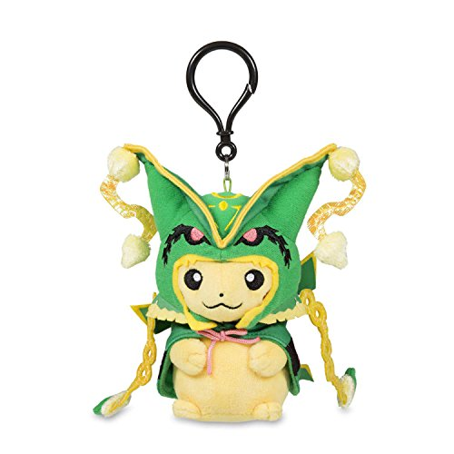 POK Plush Keychain Pikachu with MEGA Rayquaza Cape