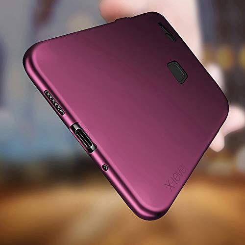 Huawei P10 Lite Hülle, [Guadian Serie] Soft Flex Silikon Premium TPU Echtes Telefongefühl Handyhülle Schutzhülle für Huawei P10 Lite Case Cover [Weinrot] - 3