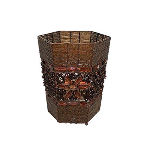 LJXLXY Bote de Basura Barrera de Basura Multiusos de Gran Capacidad y Uso doméstico de Encaje de Basura de Metal Bote de Basura Cocina