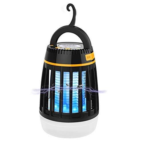 Lámpara Antimosquitos 3 en 1 Lámpara Mata Mosquitos Insectos Electrica Camping Linterna Luz LED de Asesino del Moscas Larvas Repelente Mosquito Recargable Impermeable Exterior