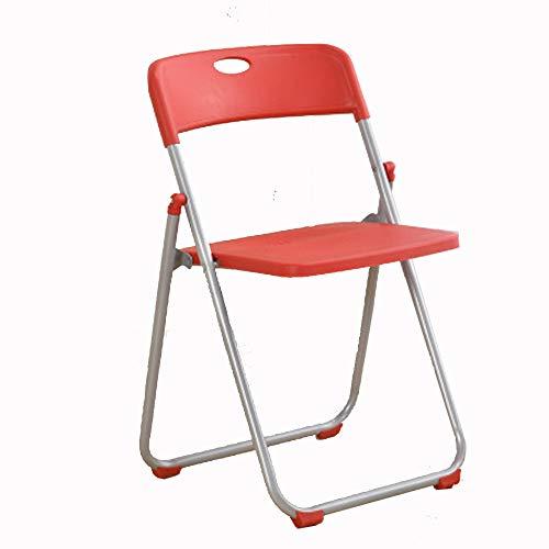 GW Klappstühle mit Metallrahmen Hochwertige pflegeleichter Vielseitig einsetzbar Wertige Verarbeitung IKEA Klappstuhl Besucherstuhl Bürostuhl Küchenstuhl Bürostühle Konferenzstuhl,Rot
