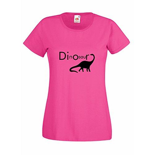 Damen T-Shirt Dinosaurier Dino Dinosaurs T Rex Dinosauria, pink, M