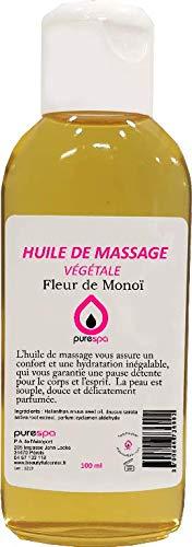 Huile de massage végétale parfumée senteur FLEUR DE MONOI Purespa By Purenail -100ml Top Promo