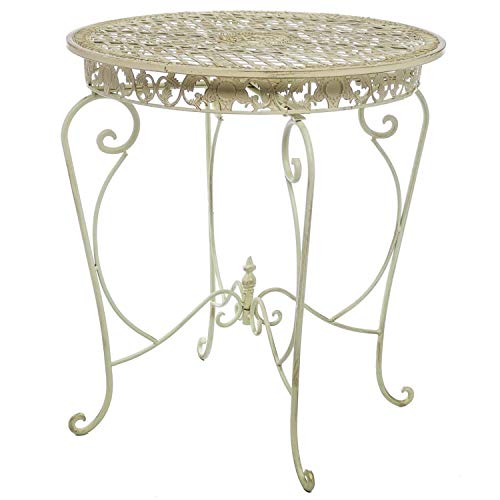 Giardino Tavolo 73 Centimetri da Giardino in Ferro Antico Stile mobili da