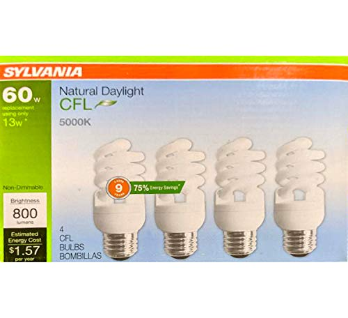 Sylvania 4-Pack 60-W Equivalent CFL Light Fixture Light Bulbs