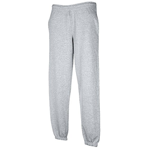 JOGGINGHOSE ELAST BUND FRUIT OF THE LOOM S M L XL XXL XXL,Hellgrau