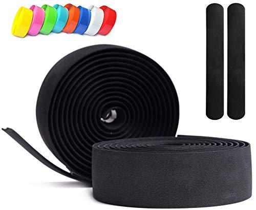 Kellago Langlebiges Profi Lenkerband in schwarz [Griffband für Rennrad aus extra robustem und griffigem Schaumstoff incl. Klebestreifen/Fahrrad ]