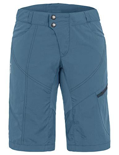 VAUDE Tamaro 05487 - Pantalones cortos para mujer, talla 42, color azul y gris