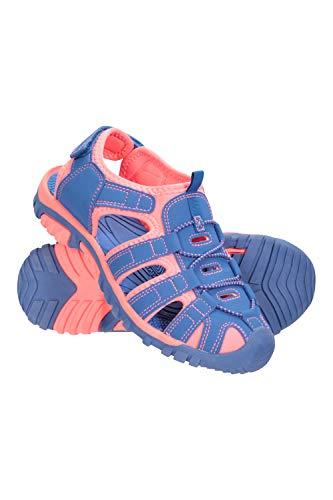 Mountain Warehouse Sandalias Bay para niños - Sandalias de Neopreno, Zapatos de Verano Ajustables y cómodos para niños, Entresuela - Ideal para Caminar, Viajar Azul Cereal 32