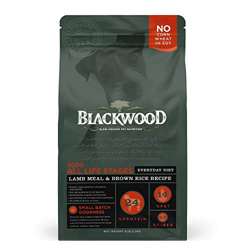 Blackwood Pet Food 22277 All Life Stages, Everyday Diet, Lamb Meal & Brown Rice Recipe, 5Lb.