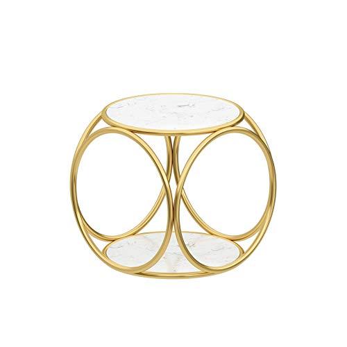 CSQ Floor Low Table, Creativity Bedside Table Home Bedroom Living Room Sofa Side Storage Table Marble/wood Veneer (Color : G, Size : 45 * 45 * 45CM)