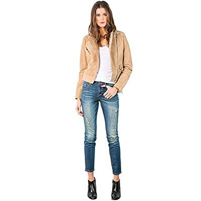 Women's Stretch Denim Distressed Ankle Skinny Jeans