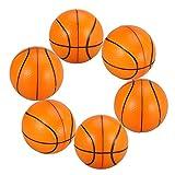Toyvian 6 bolas de espuma de poliuretano para practicar baloncesto, pelota de ejercicios de mano, terapéutica, para oficina, cumpleaños, deportes, fiestas, niños, mascotas, regalos, 10 cm