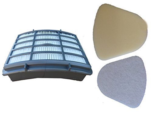 1 Set Filters Shark Navigator Lift Away Vacuum = HEPA XHF350 plus Pre-motor Felt & Foam Kit XFF350