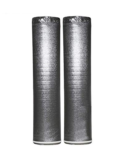 400SQFT AMERIQUE Premium 3 mm Thick Flooring Underlayment Padding with Tape & Vapor Barrier 3 in 1 Heavy Duty Foam (400SF Total, 200SF/Roll), 400 sq. ft., Silver Chrome (Pack of 2)