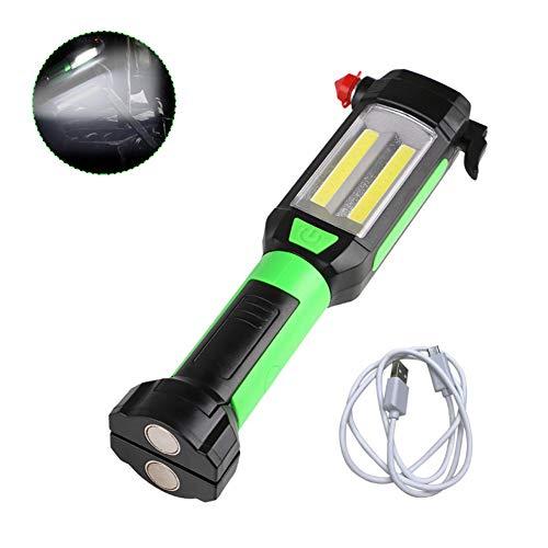 Harddo LED werklicht COB LED inspectielamp USB-oplader draagbare zaklamp met magneet en 360 graden draaibare haak voor camping jacht vissen auto reparatie noodgevallen