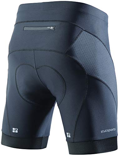 STUTSPORTS Mens Bike Shorts with 3D Padded,Cycling Riding Men's Shorts for Summer Professional Sports (Black,L)