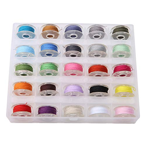 Naaikist 25 Spool, gemaakt van kunststof materiaal en licht gewicht, gemakkelijk op te slaan, te gebruiken en te dragen, duurzaam, ruimtebesparend, geschikt voor de meeste naaimachines