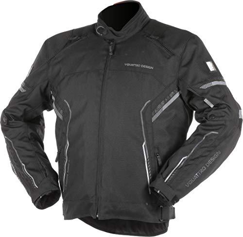 VQuattro Bolt Chaqueta textil para moto, color negro, S