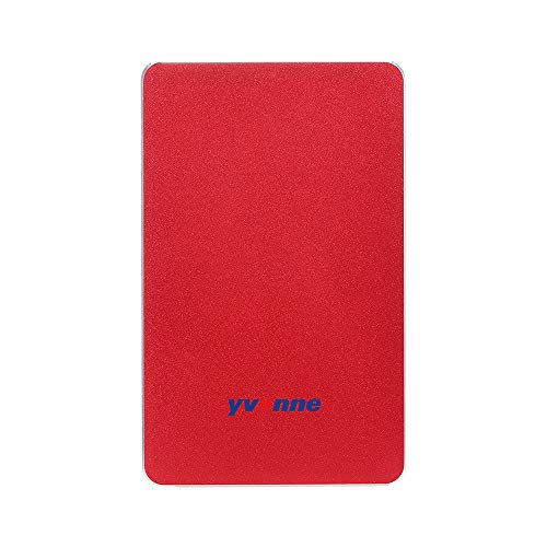Fesjoy Mobile Hard Drive, 2.5'' USB 3.0 HDD External Mobile Hard Drive Portable HDD Storage Compatible Compatible with PC Mac Desktop Laptop Red 2TB