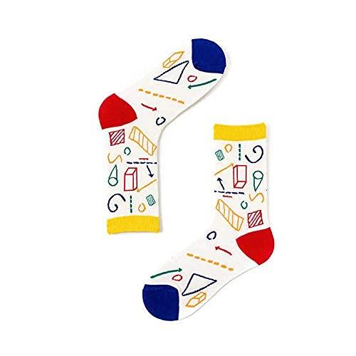 Calcetines altos con dibujos hombre y mujer, estampados originales para invierno y verano con cuadros famosos, divertidos. Diseños atractivos y elegantes. Calcetines School