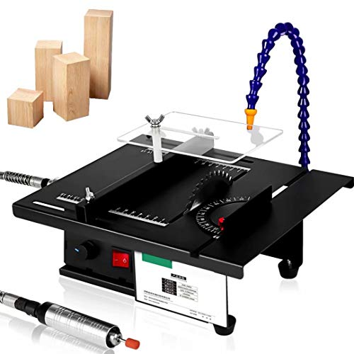 Mini sierra de mesa de 1800 W, sierra de mesa multifuncional, mandril de precisión y corte en ángulo, molino de jade para manualidades con modelos de madera hechos a mano, accesorios opcionales