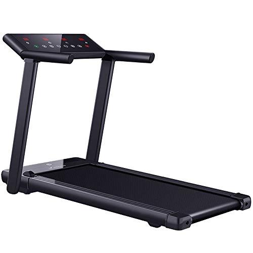 ZAIHW Inteligente cinta de correr plegable, motorizado eléctrico aptitud del ejercicio de la máquina, se inclina, y la gran pantalla doble sistema de amortiguación Comfort deportes de interior, Equipo