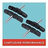 Pastillas de Freno Cantilever, 2 Pares, 70 mm, simétricas, para Shimano, Tektro, Avid, Sram, XLC UVM, Alta Potencia de Freno, duraderas y Ajustables.