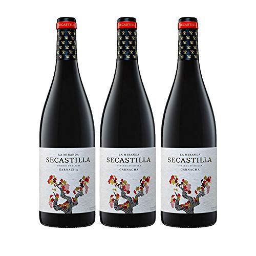 Vino tinto La Miranda de Secastilla de 75 cl - D.O. Somontano - Bodegas Gonzalez Byass (Pack de 3 botellas)