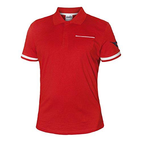 Diadora Sport 102172683SS PQ Polo da Uomo, Uomo, 102172683, Rosso Carminio, 2X-Large