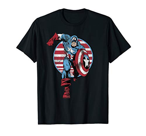 Marvel Captain America Charge Graphic T-Shirt T-Shirt