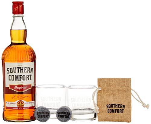 Southern Comfort Original inkl. Gläser und Kühlwürfel (1 x 1 l)
