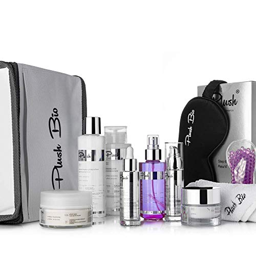 Plush luxuryBIOcosmetics - Set 10 products La Reina - lady interested in a premium quality skin rejuvenation complete process - all skin types