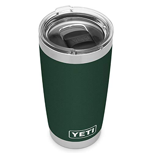 YETI Rambler 20 oz Tumbler, Stainless Steel, Vacuum Insulated with MagSlider Lid, Northwoods Green