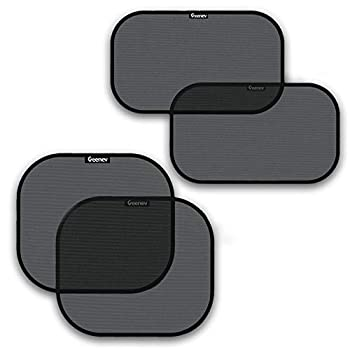 Car Sun Shades for Side and Rear Window  4 Pack  - Car Sunshade Protector - Protect your kids and pets in the back seat from sun glare and heat Blocks over 98% of harmful UV Rays - Easy to Install,