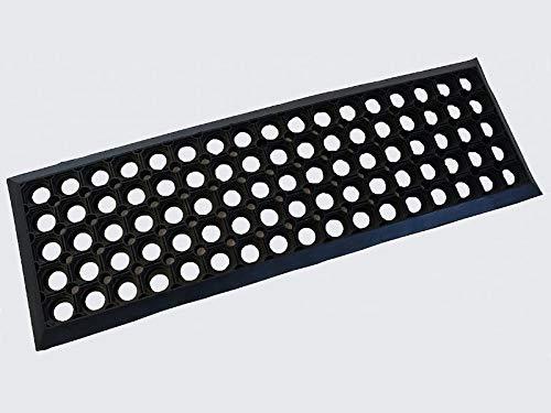 Euromat Treppenmatte Stufenmatten 25x75 cm Gummi Ringgummimatte Fußmatte Matte Rutschhemmend Gummy
