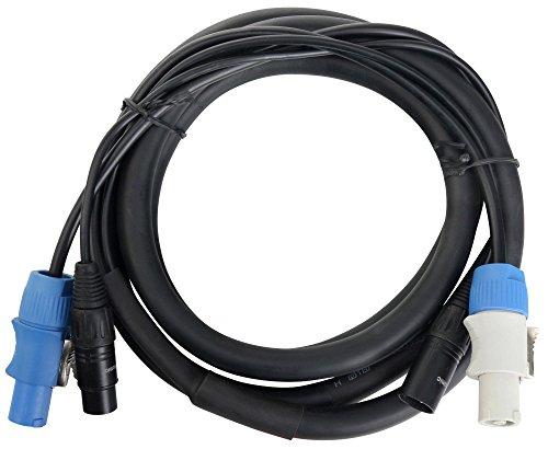 Pronomic Stage PPD-2,5 Hybridkabel Powerplug/DMX 10m (ideal zur Verkabelung von Lichteffekten & Bühnenbeleuchtung)