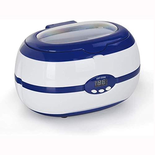 FZJDX Limpiador ultrasónico for la joyería Tanques Lentes Piezas de Metal y de Vidrio Más (Color : Blue)