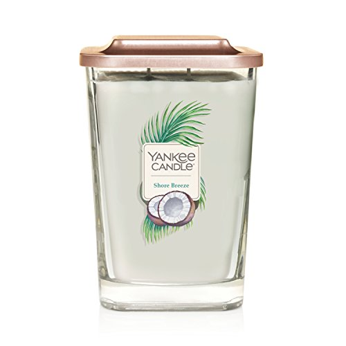 Yankee Candle Elevation Collection with Platform Lid Shore Breeze Scented Candle, Large 2-Wick, 80 Hour Burn Time