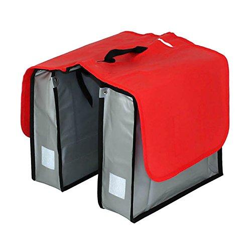 Filmer Fahrrad-Doppeltasche aus Tarpaulin, Rot/Silber, 33 x 25 x 12 cm, 20 Liter, 46361