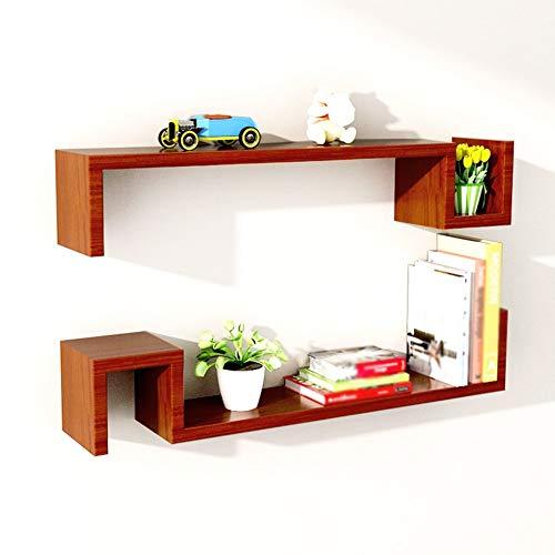 ZLP massief houten plank, bergrack, creatieve scheidingswand frame in woonkamer en slaapkamer, 4 kleuren, 80 * 15 * 15Cm BRON